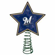 Milwaukee Brewers Light Up Art Glass Mosaic Tree Topper
