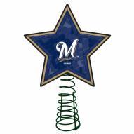 Milwaukee Brewers Light Up Art Glass Mosaic Tree Topper