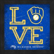 Milwaukee Brewers Love My Team Color Wall Decor