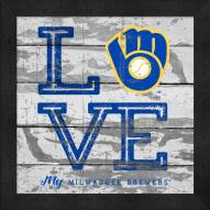Milwaukee Brewers Love My Team Square Wall Decor
