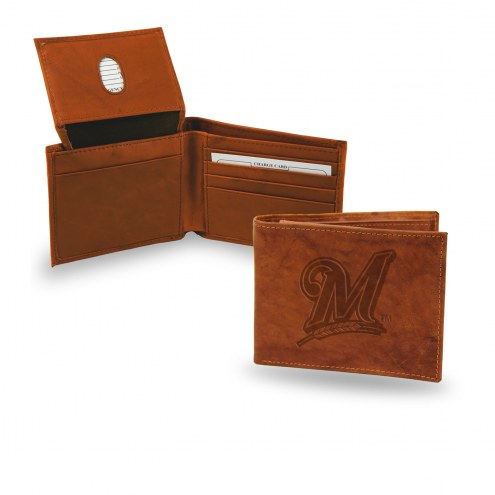 Milwaukee Brewers Embossed Bi-Fold Wallet