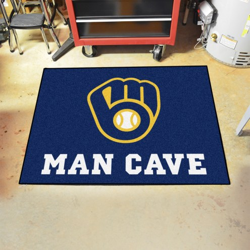 Milwaukee Brewers Man Cave All-Star Rug