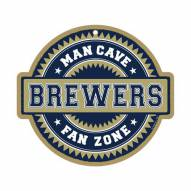 Milwaukee Brewers Man Cave Fan Zone Wood Sign