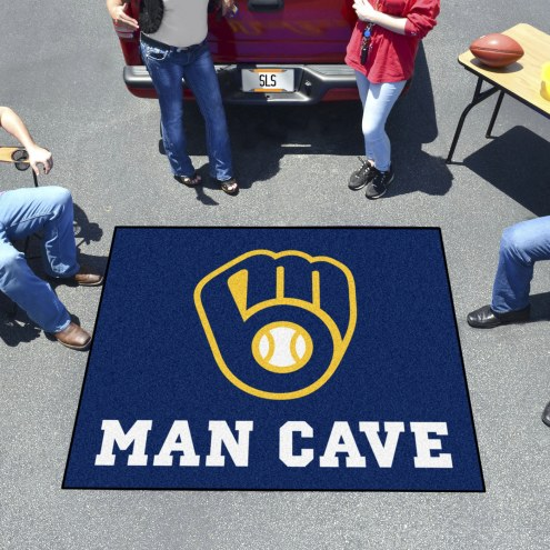 Milwaukee Brewers Man Cave Tailgate Mat
