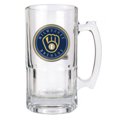 Milwaukee Brewers MLB 1 Liter Glass Macho Mug