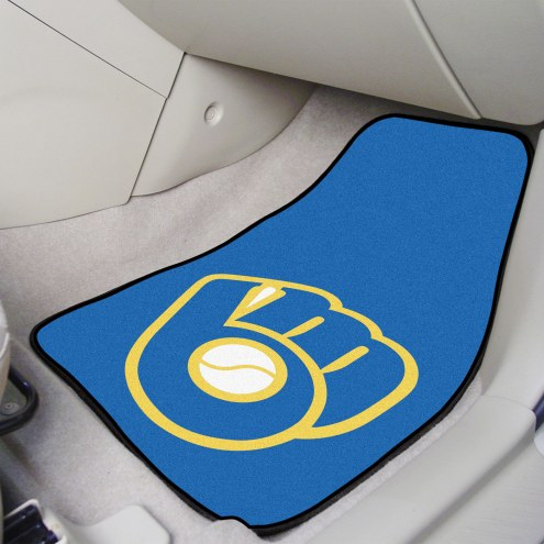 Milwaukee Brewers MLB 2-Piece Carpet Car Mats