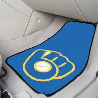 Milwaukee Brewers MLB 2-Piece Carpet Car Mats