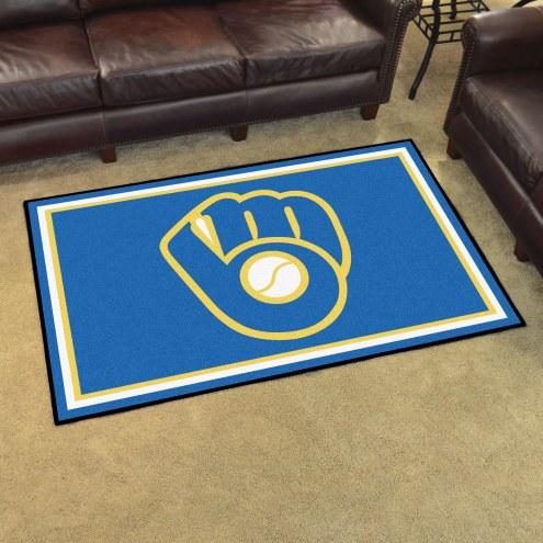 Milwaukee Brewers MLB 4' x 6' Area Rug