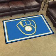 Milwaukee Brewers MLB 4' x 6' Area Rug