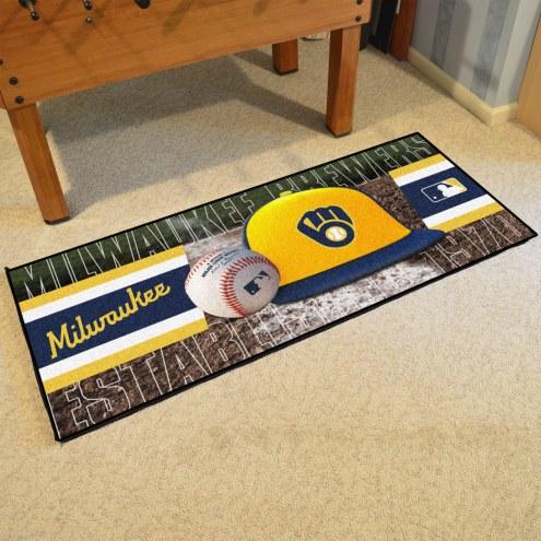 Milwaukee Brewers Baseball Runner Rug