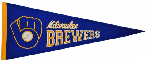 Milwaukee Brewers MLB Cooperstown Pennant
