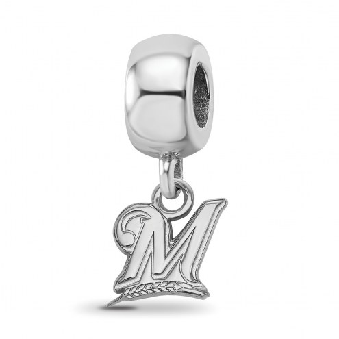 Milwaukee Brewers Sterling Silver Extra Small Bead Charm