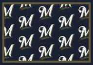 Milwaukee Brewers MLB Repeat Area Rug