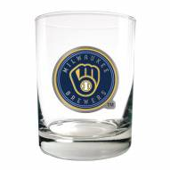 Milwaukee Brewers MLB 2-Piece 14 Oz. Rocks Glass Set