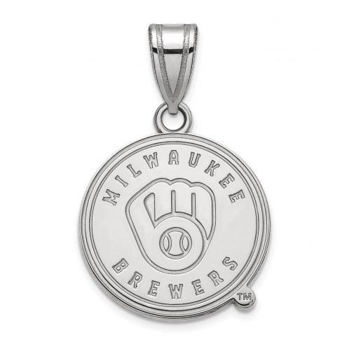 Milwaukee Brewers Sterling Silver Medium Pendant
