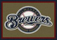 Milwaukee Brewers MLB Team Spirit Area Rug