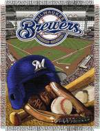 Milwaukee Brewers MLB Woven Tapestry Throw Blanket