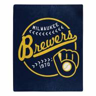 Milwaukee Brewers Moonshot Raschel Throw Blanket