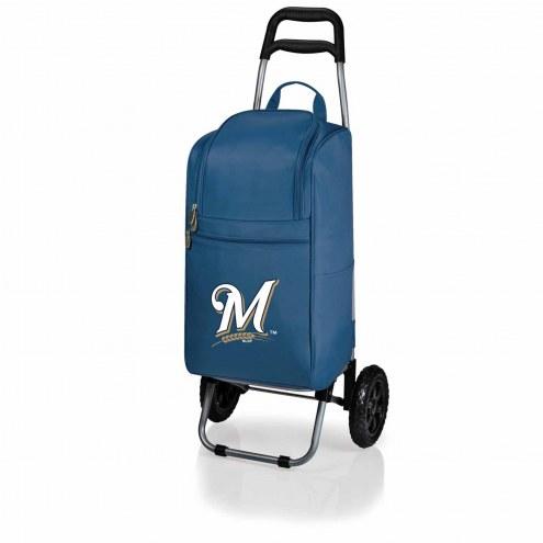 Milwaukee Brewers Navy Cart Cooler