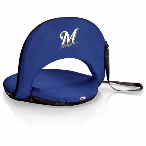 Milwaukee Brewers Navy Oniva Beach Chair