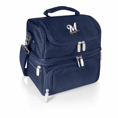 Milwaukee Brewers Navy Pranzo Insulated Lunch Box