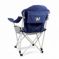 Milwaukee Brewers Navy Reclining Camp Chair