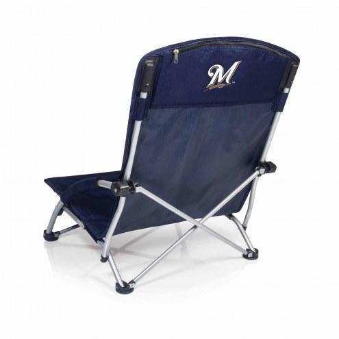 Milwaukee Brewers Navy Tranquility Beach Chair