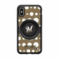 Milwaukee Brewers OtterBox Symmetry Polka Dot PopSocket iPhone Case