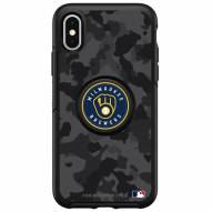 Milwaukee Brewers OtterBox Urban Camo Symmetry PopSocket iPhone Case