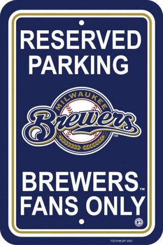 Milwaukee Brewers Parking Sign