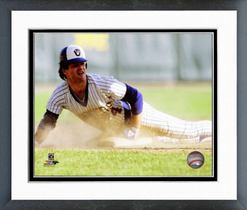 Milwaukee Brewers Paul Molitor 1981 Action Framed Photo