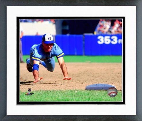 Milwaukee Brewers Paul Molitor 1985 Action Framed Photo