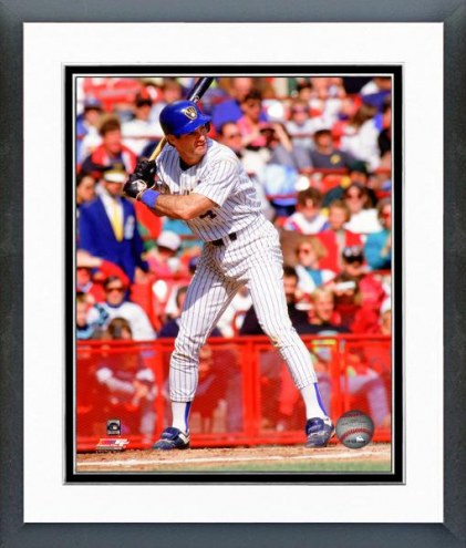Milwaukee Brewers Paul Molitor 1991 Action Framed Photo