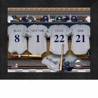 Milwaukee Brewers  Personalized Locker Room 11 x 14 Framed Photograph