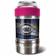 Milwaukee Brewers Pink 12 oz. Locker Vacuum Insulated Can Holder