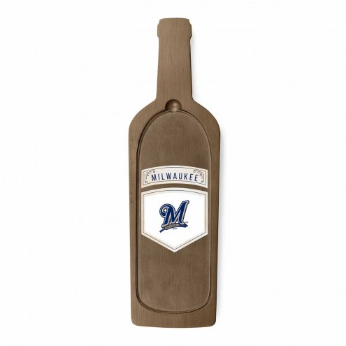 Milwaukee Brewers Reserve Glass Top Serving Tray
