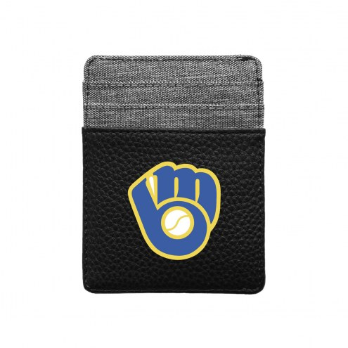 Milwaukee Brewers Pebble Front Pocket Wallet