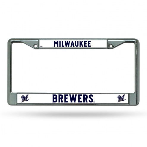 Milwaukee Brewers Rico Chrome License Plate Frame