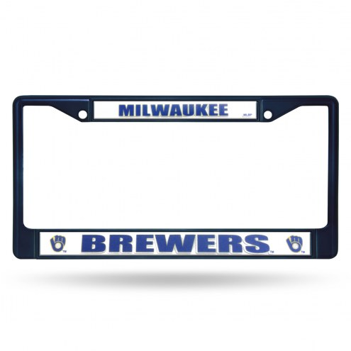 Milwaukee Brewers Rico Colored Chrome License Plate Frame