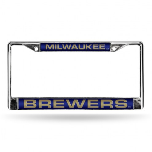 Milwaukee Brewers Laser Chrome License Plate Frame