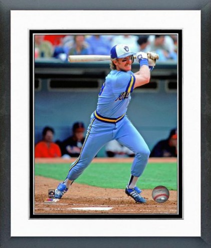 Milwaukee Brewers Robin Yount Action Framed Photo