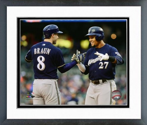 Milwaukee Brewers Ryan Braun & Carlos Gomez Action Framed Photo