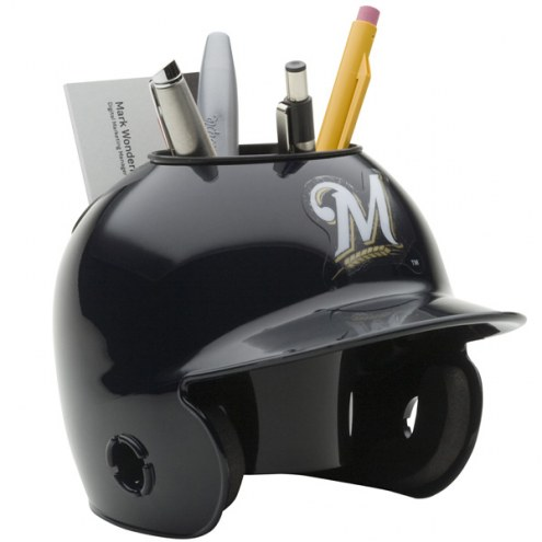 Milwaukee Brewers Schutt Batting Helmet Desk Caddy