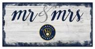 Milwaukee Brewers Script Mr. & Mrs. Sign