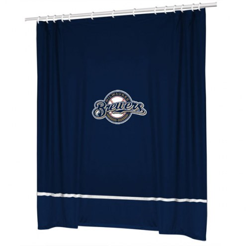Milwaukee Brewers Sidelines Shower Curtain
