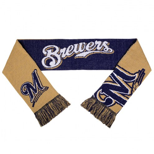 Milwaukee Brewers Split Logo Reverse Scarf