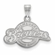 Milwaukee Brewers Sterling Silver Small Pendant