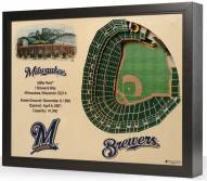 Milwaukee Brewers 25-Layer StadiumViews 3D Wall Art