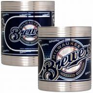 Milwaukee Brewers Stainless Steel Hi-Def Coozie Set
