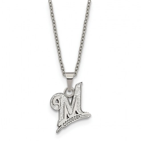 Milwaukee Brewers Stainless Steel Pendant Necklace